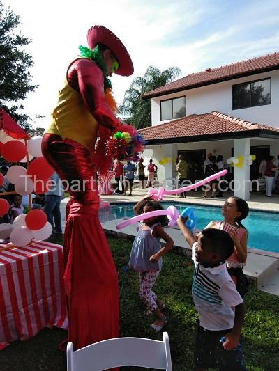 stilt walkers party character hire