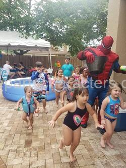 Hire Spiderman superhero character kids party