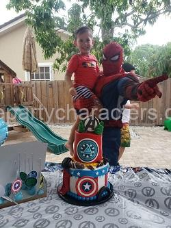 Spiderman kids party hire character
